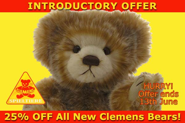 Clemens Spieltiere teddy bears offer