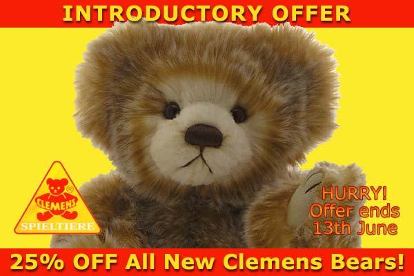 Clemens Spieltiere teddy bears offer