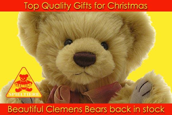 Clemens teddy bears for Christmas