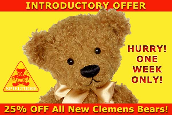 New Clemens Teddy Bears