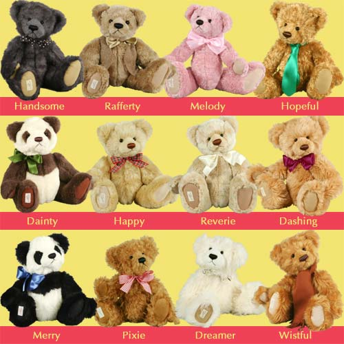 Choose your favourite Dean's Teddy Bear