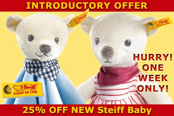 New Steiff Baby Teddy Bears