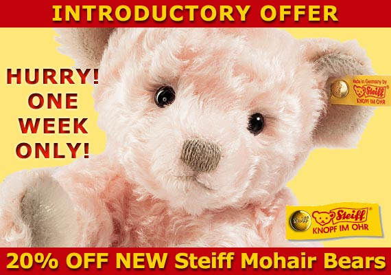 Save 20% On New Collectible Bears by Steiff