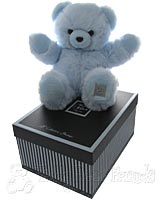 Large Fluffy Blue Teddy Bear