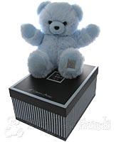 Large Fluffy Blue Teddy Bear