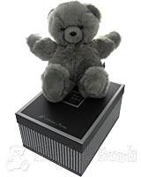 Large Fluffy Grey Teddy Bear
