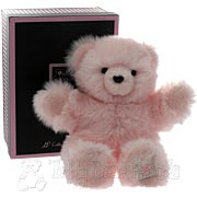 Medium Fluffy Pink Teddy Bear