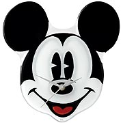 Mickey Mouse Glass Clock