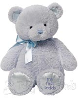 Large Blue Baby Teddy Bear