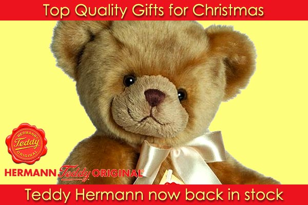 Teddy Hermann teddy bears for Christmas