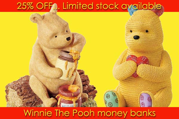 Winnie The Pooh money banks
