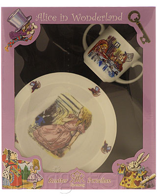 Reutter Porcelain Alice in Wonderland Nursery Set
