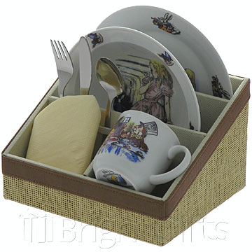 Reutter Porcelain Alice in Wonderland Breakfast Set Pink Box