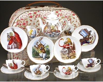 Reutter Porcelain Alice in Wonderland Miniature Teaset