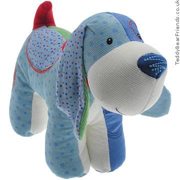 Baby Gund Blue Patchwork Dog