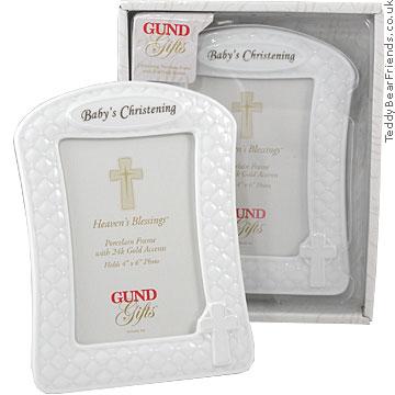 Gund Baby Christening Picture Frame