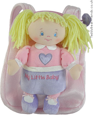 Baby Gund My Little Baby Backpack Playset Charlotte
