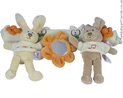 Baby Gund Happy Bunny Rabbit Pram Toy
