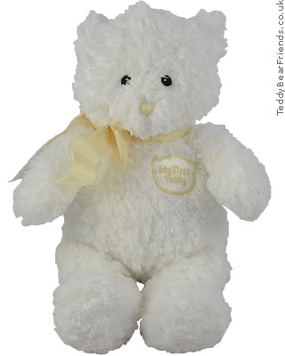 My First Teddy White Baby Gund 58619
