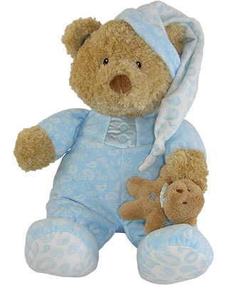 Baby Gund Paisley Collection PJ Blue Bear Musical