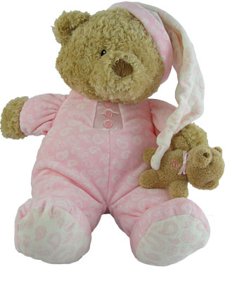 Baby Gund Paisley Collection PJ Pink Bear Musical