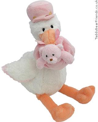 Baby Gund Girl Stork And Baby