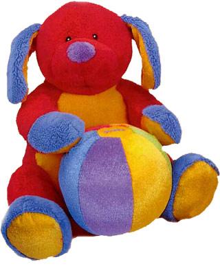 Baby Gund Tutti Frutti plush musical puppy