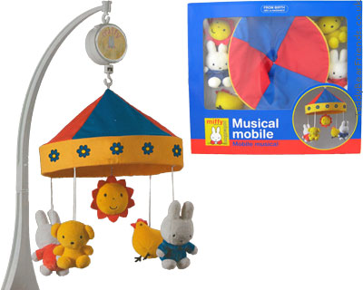Augusta Du Bay Miffy Baby Musical Mobile Primary