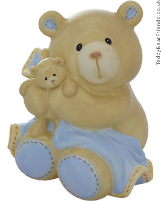 Baby Gund Bear Tales Baby Boy Money Bank