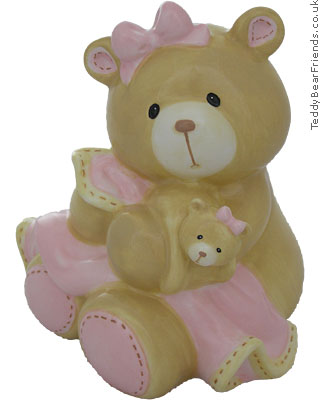 Baby Gund Bear Tales Baby Girl Money Bank