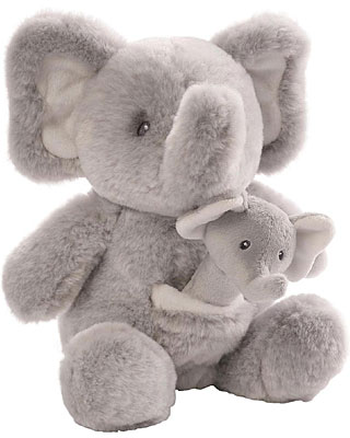 Baby Gund Oh So Soft Elephant & Rattle Combo