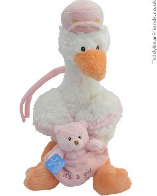 Baby Gund Baby Girl Stork Musical