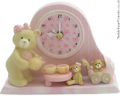 Baby Gund Bear Tales Girl Clock
