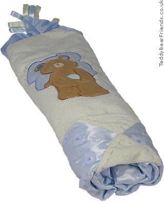 Baby Gund Bear Tales Large Blue Baby Blanket