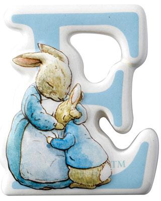 Border Fine Arts Beatrix Potter Mrs Rabbit Peter Letter E
