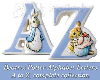 Border Fine Arts Beatrix Potter Alphabet Letters Set