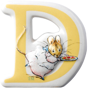 Border Fine Arts Beatrix Potter Appley Dapply Letter D