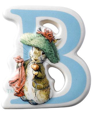 Border Fine Arts Beatrix Potter Benjamin Bunny Letter B