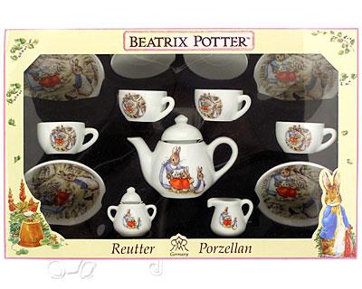 Reutter Porcelain Beatrix Potter Boxed Teaset