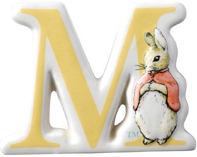 Border Fine Arts Beatrix Potter Flopsy Alphabet Letter M