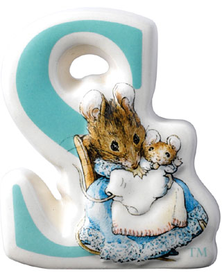 Border Fine Arts Beatrix Potter Hunca Munca Baby Letter S