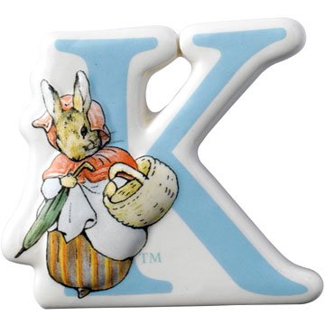 Border Fine Arts Beatrix Potter Mrs Rabbit Letter K