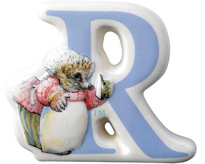 Border Fine Arts Beatrix Potter Mrs Tiggy Winkle Letter R