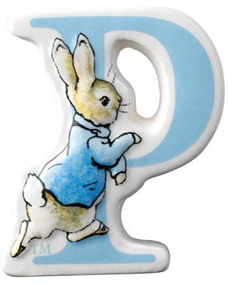 Border Fine Arts Beatrix Potter Peter Rabbit Letter P
