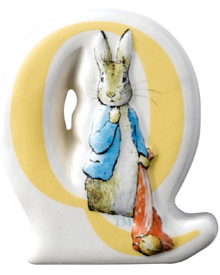 Border Fine Arts Beatrix Potter Peter Rabbit Letter Q