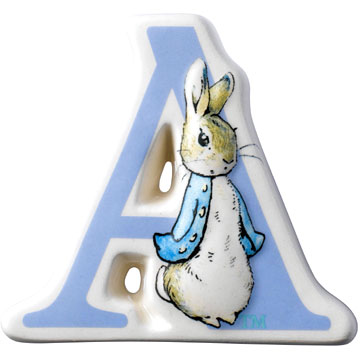 Border Fine Arts Beatrix Potter Peter Rabbit Letter A