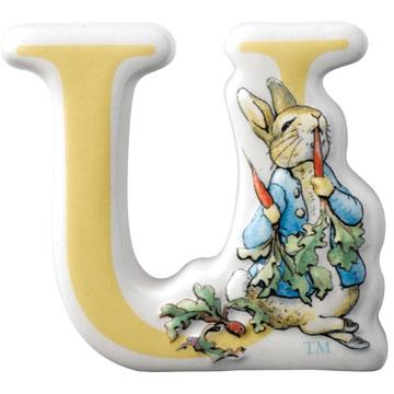 Border Fine Arts Beatrix Potter Peter Rabbit Letter U