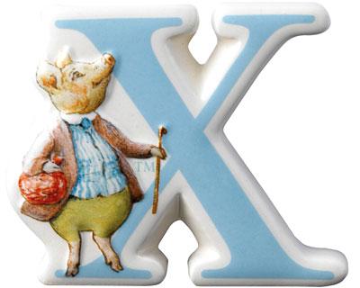 Border Fine Arts Beatrix Potter Pigling Bland Letter X