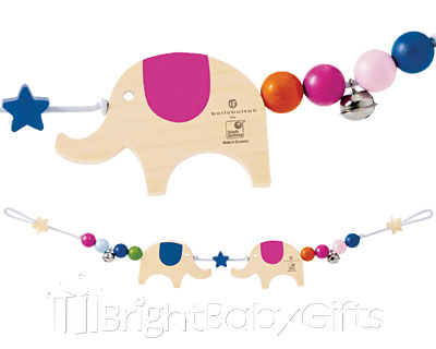 Bellybutton Bellybutton Lucky Elephants Pram Chain