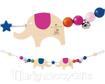 Bellybutton Bellybutton Lucky Elephants Pram Chain